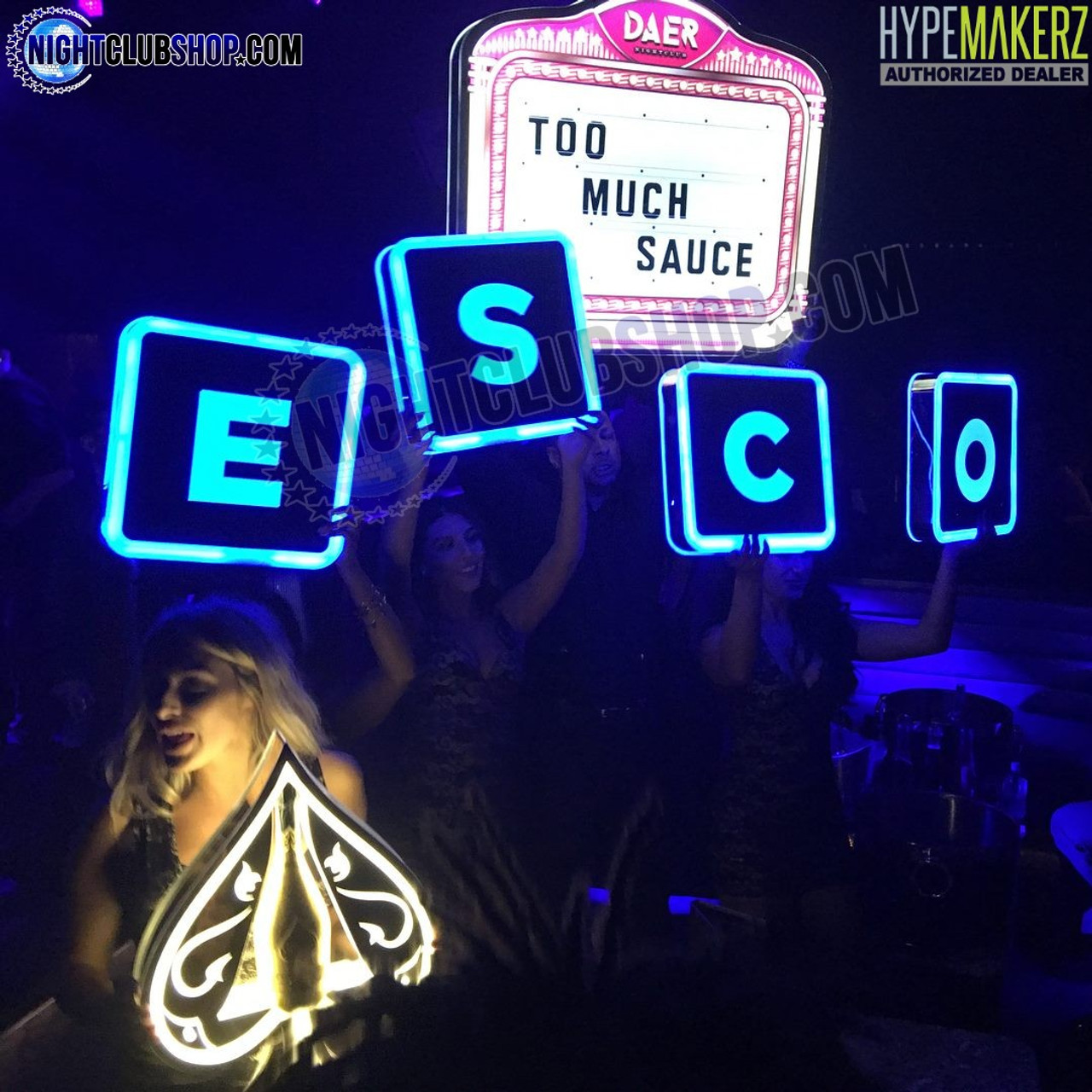 LED, Interchangeable, Lightbox, RGB, Remote, Controlled, RF, ESCO, Nightclub, Nightlife, Club, Bar, Casino, Lounge, Celebration, Custom, Branding