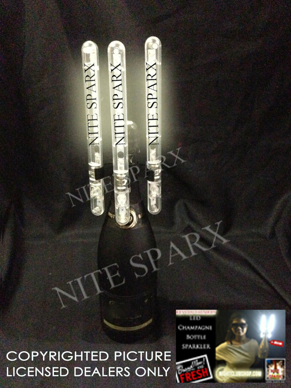 LED Bottle Sparkler, LED, Bottle Sparkler, Bottle, Sparkler, Electric champagne bottle sparkler LED, alternative, Champagne Sparkler, Bottle Sparkler, LED Spark