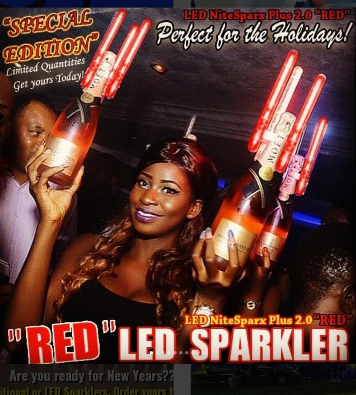#LED #Nitesparx #Plus #Alternative #Safe #electronic #Sparkler #Red #Sparx #Flameless #LEDSparkler #NYE2018