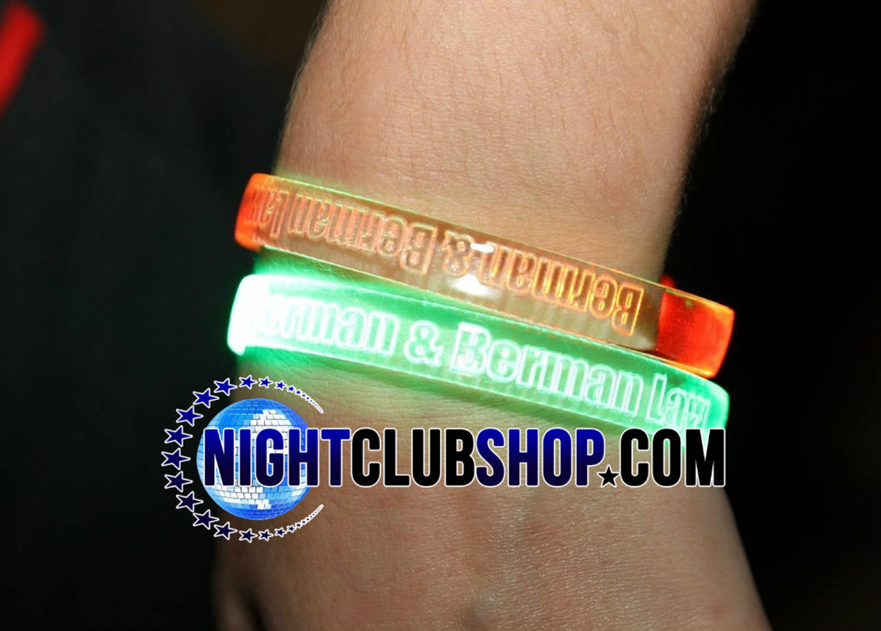 LED,Custom,Wristband,wrist,band,brand, logo,text,name,personalize