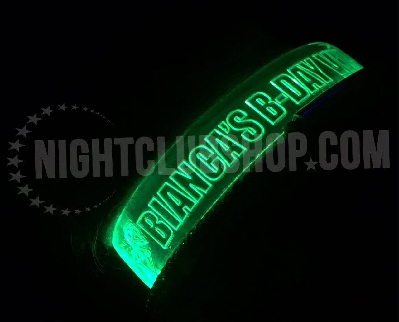 Custom,laser engraved,laser,engrave,LED,wrist band, wristband, wrist, band,bracelet,LED Bracelet, Party,wedding,Event,Trade show,give away, Logo,name,