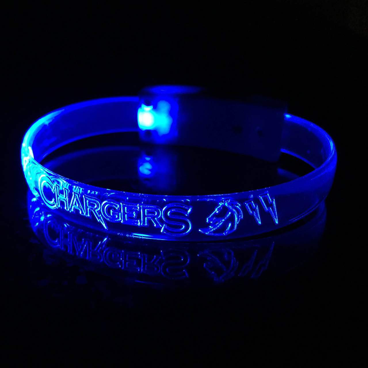 Blue,LED,Custom,Engraved,Branded,Personalized, Bulk, LED, Wristband, LED wristband, Bracelet, Glow,Neon, UV, LED Bands, wrist band,wristband, illuminated, light up, wholesale, School, wedding, nightclub, promo, merch,
