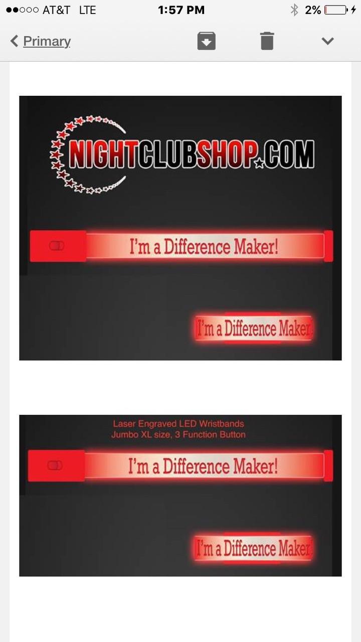 HALLOWEEN LED WRISTBANDS - PERSONALIZED - CUSTOM - Light Up Optical Engraved LED Bands - FREE SHIPPING USA