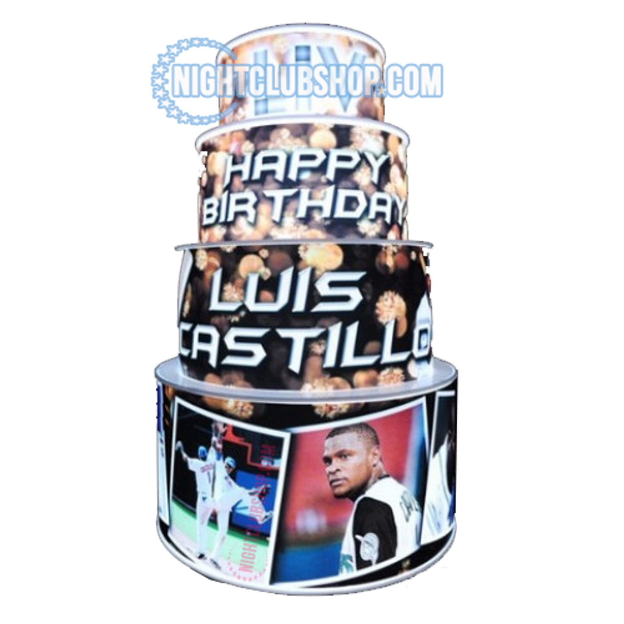 LED, Birthday, Cake, LEDCake, LED Cake, Light up, illuminated,custom,VIP, Bottle service, VIP cake, Cakes