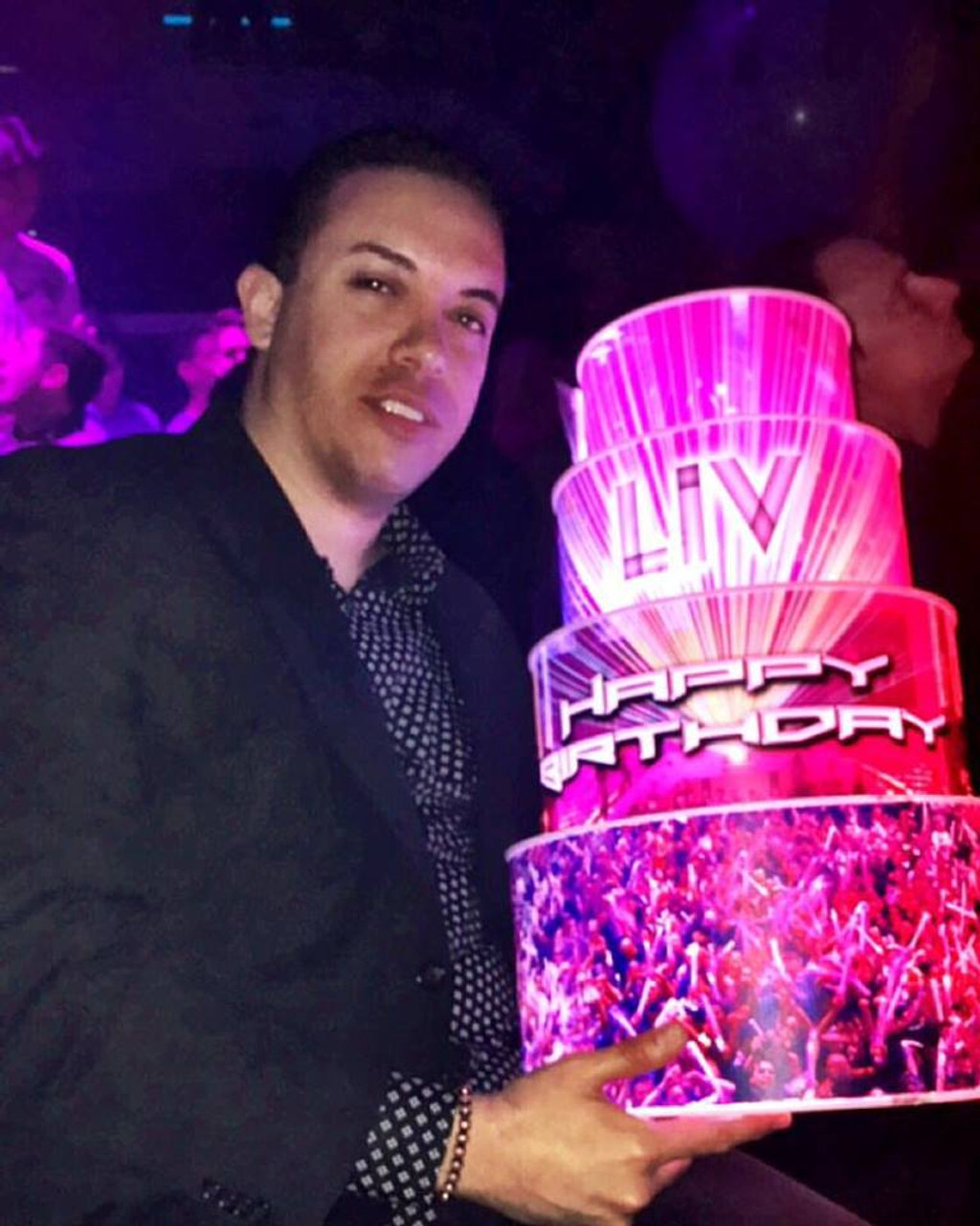 Light up Cake,LED cake, LED birthday Cake, LED wedding Cake, LED,wedding,VIP, bottle, Champagne, celebration,Miami