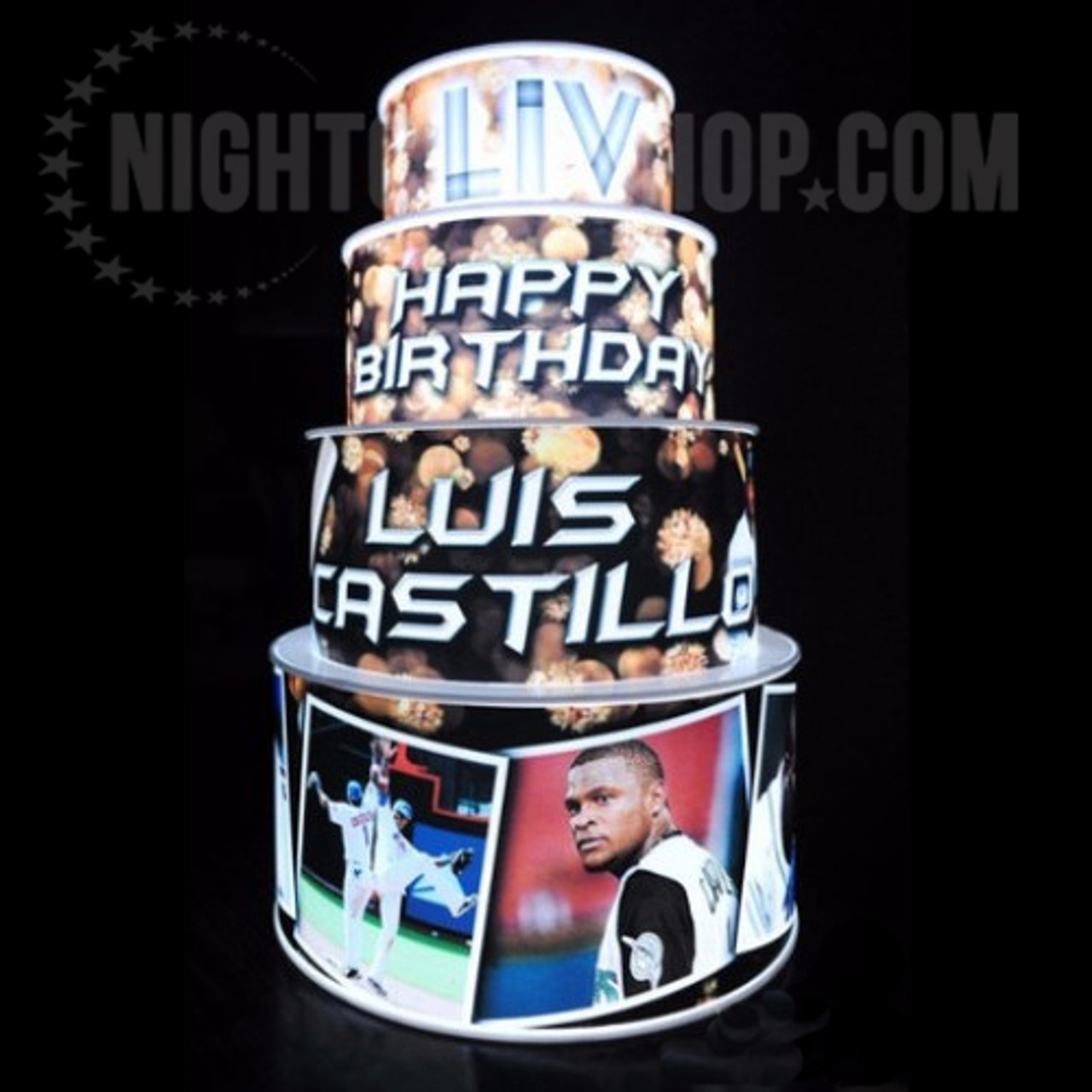 VIP Birthday, LED Cake, Birthday cake, Glow cake, Neon Cake, Light up Cake, Illuminated Cake, LED, Cake,wedding cake