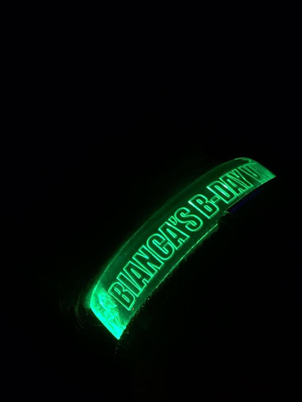 Custom,Engraved,Branded,Personalized, Bulk, LED, Wristband, LED wristband, Bracelet, Glow,Neon, UV, LED Bands, wrist band,wristband, illuminated, light up, wholesale, School, wedding, nightclub, promo, merch,