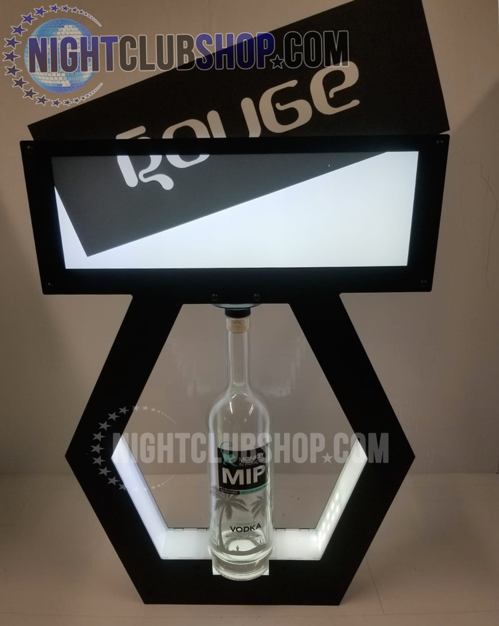 VIP,Banner,Top,interchangeable,Tray,Lightbox,Light up,Print,Banner Top,Bottle Service,tray,Presenter,change, display,shield,nightclubshop