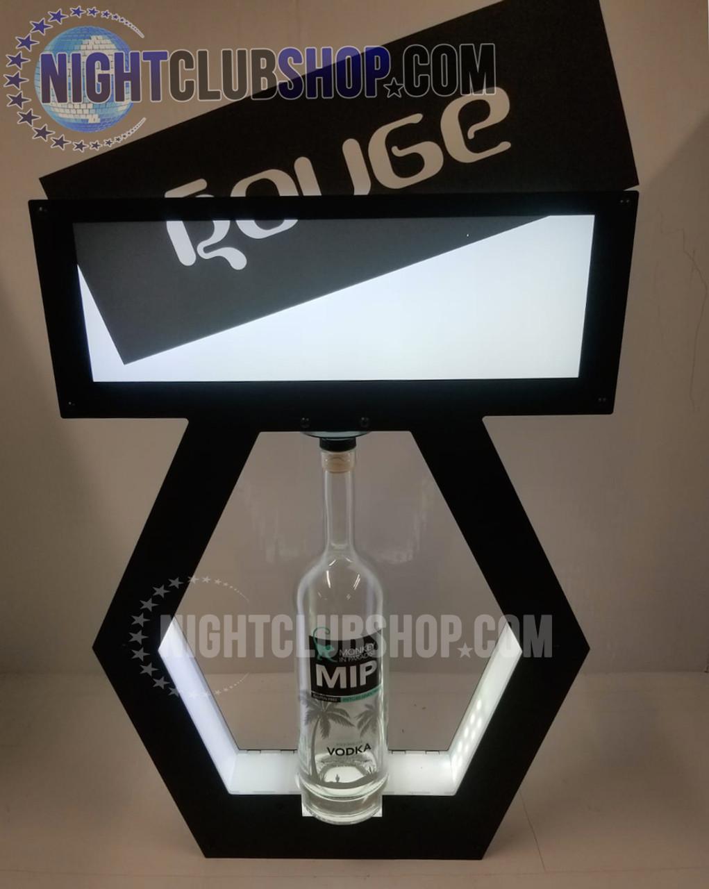 VIP,Banner,Top,interchangeable,Tray,Lightbox,Light up,Print,Banner Top,Bottle Service,tray,Presenter,change, display,shield,nightclubshop