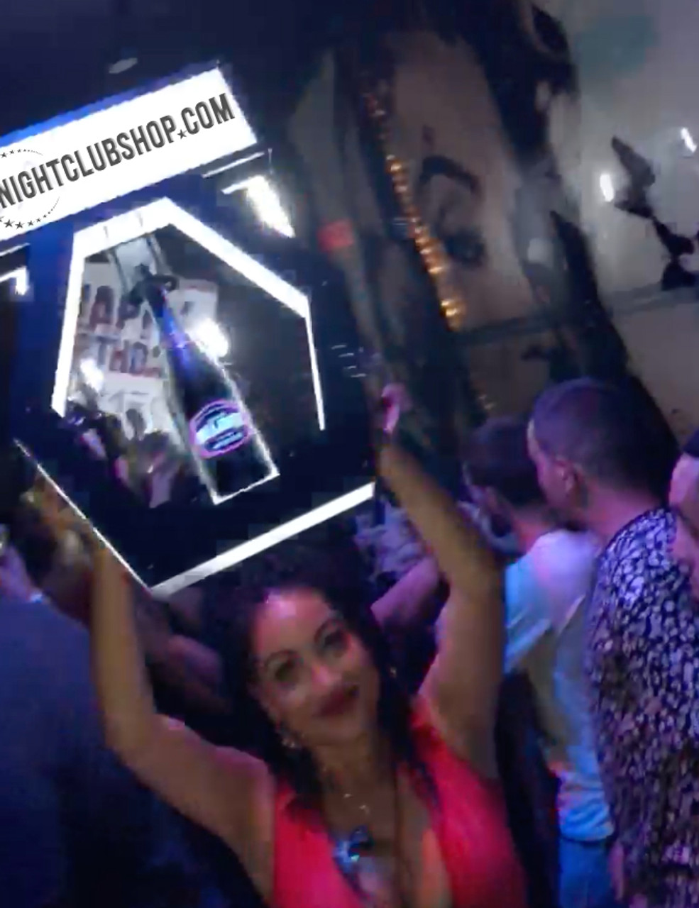 Nightclubshop_VIP_LED_HEX_BANNER_TOP_CHAMPAGNE_DELIVERY_TRAY_PRESENTER_BANNER TOP