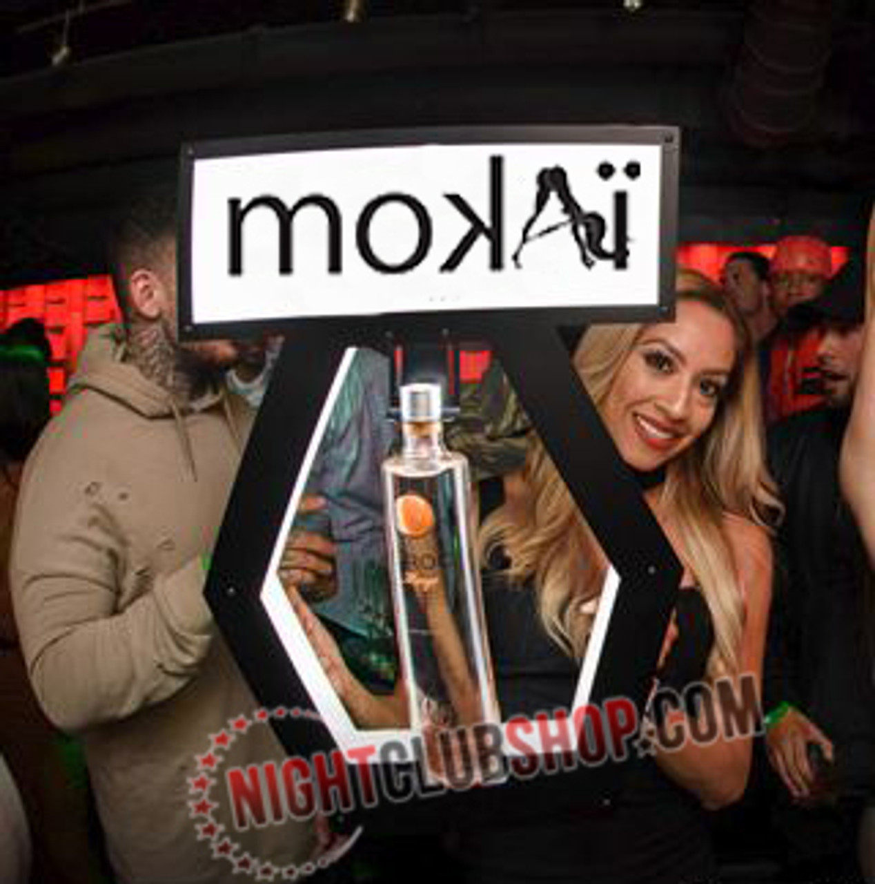 MOKAI_MIAMI_Nightclub_VIP_Lightbox_Champagne_Liquor_Tray_interchangeable_Bottle_service_carrier_holder_tray_Presenter_caddie_caddy_Banner_Top