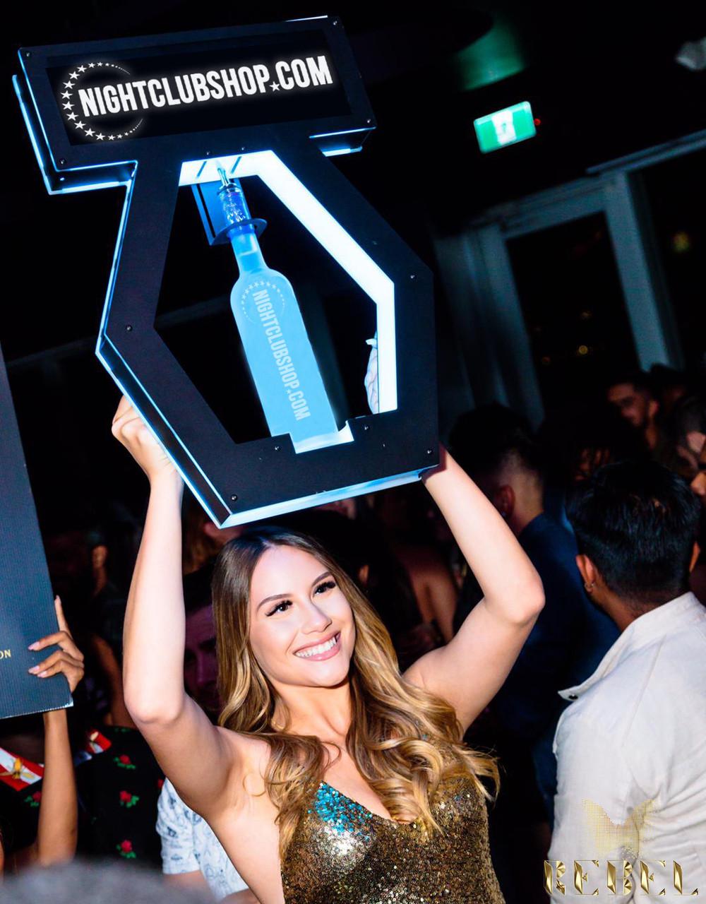 VIP, LED, Champagne, Liquor, bottle, service, POS, Presenter, presentation, tray, caddie