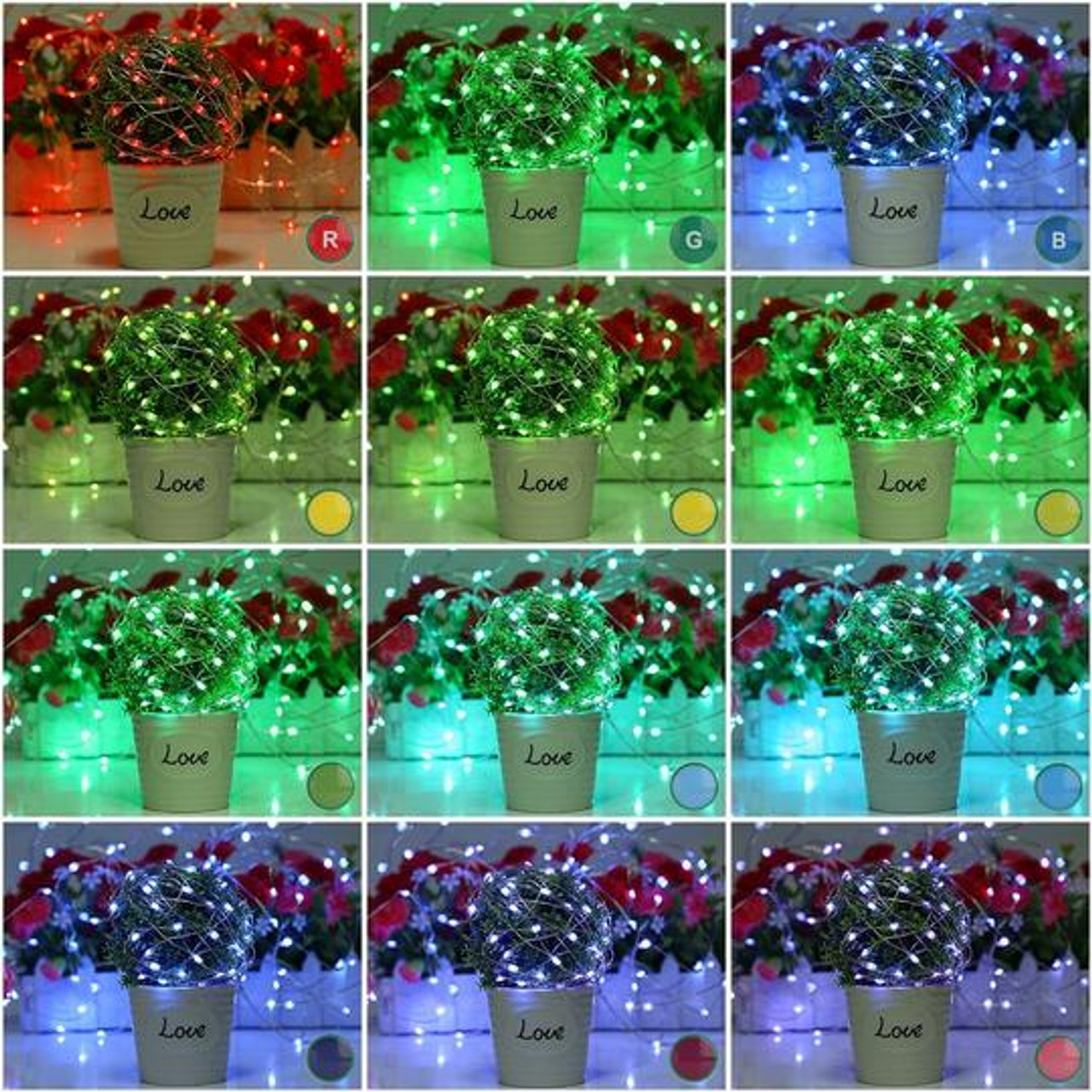 RGB, RF remote control, LED, multi-color, multi-function, strobe, flash, fade, wireless
