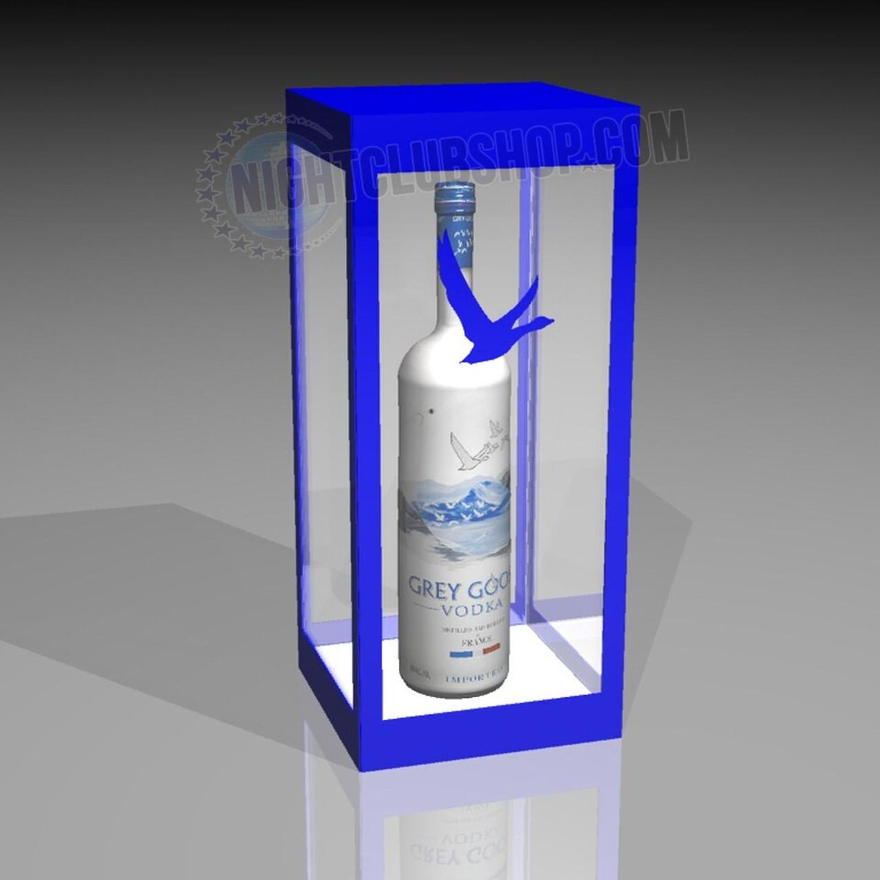 Liquor lock, Patrons, bottle lock, VIP, bottle service, LED, Cage, presenter, nightclub, bar, casino, table service, Spirits