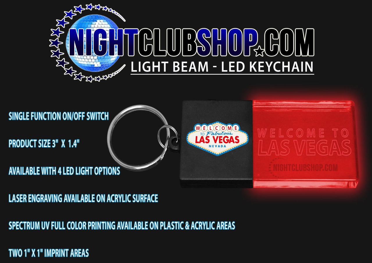 LED,Keychain,Key,chain,LED keychain, custom, BEAM, dual, print,engraved, logo,text, laser engraved,personalized,promo,merch,fundraiser,nightclub,fund raiser,Las vegas, dos logo