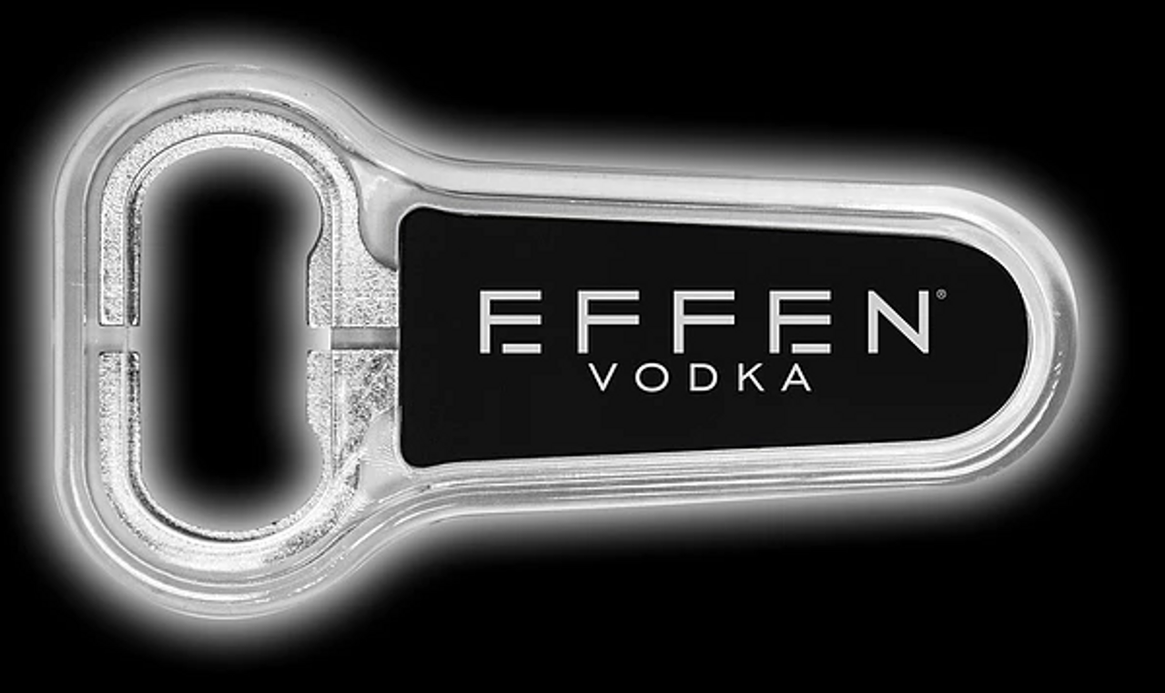 Branding, bottle, opener, beer, cap, remover, LED, Effen, Vodka, bar, liquor, product