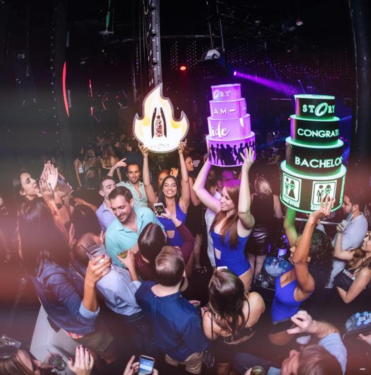 Presenters, Bottle Carrier, Liquor Holder, VIP, LED Cake, LED Flame, Nightclub, Venue, Bar, Casino, Lounge, club cake