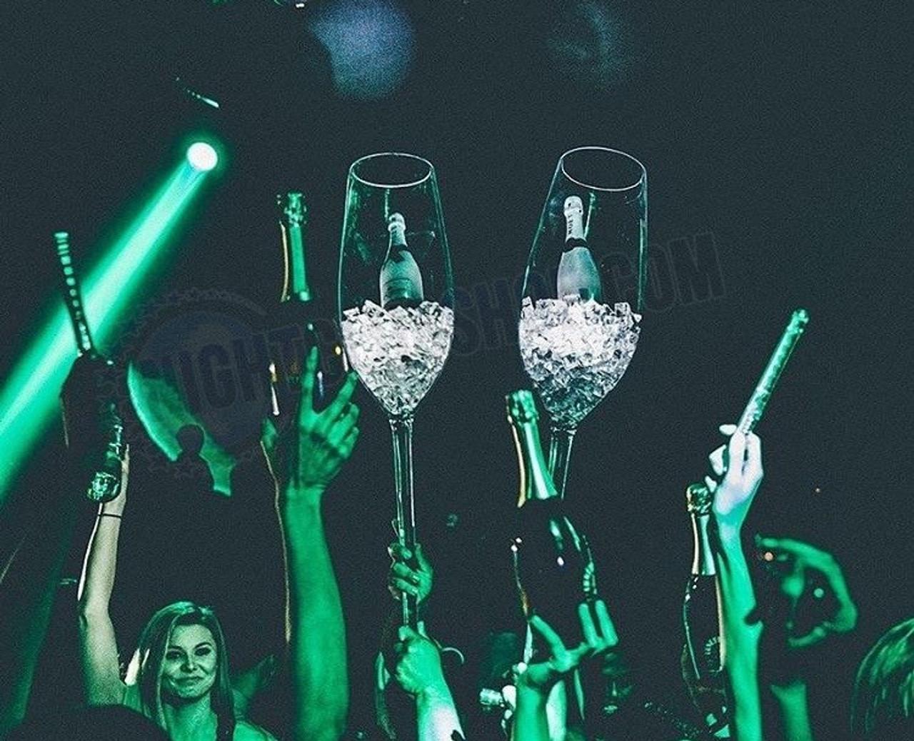 Champagne, Bottle, Presenter, Jumbo, Sparkling, Wine, Acrylic, Cups, Club, Casino, Wedding, Birthdays, VIP, Exclusive