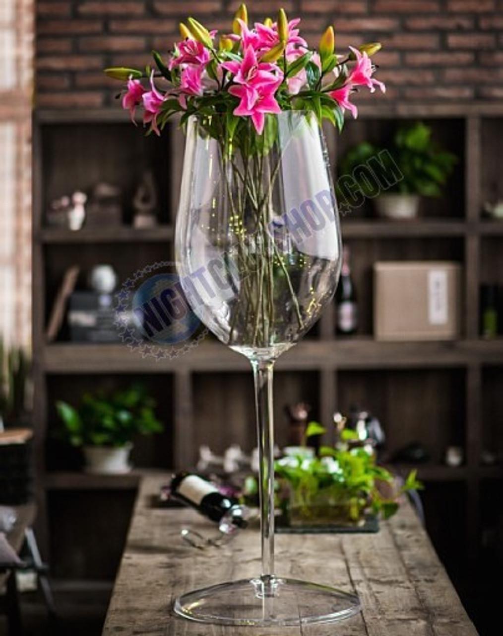 Jumbo, White, Wine, Cup, LED, Wedding, Decorations, flowers, Bar, Lounge, Casino, Celebration, Sparkling, Wine