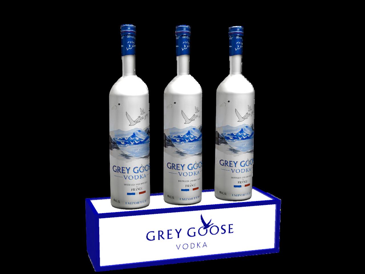 Grey Goose, LED, Bottle, Base, Glorifier, Shelf, tier, GreyGoose, Bacardi, Display, stand, holder, VIP