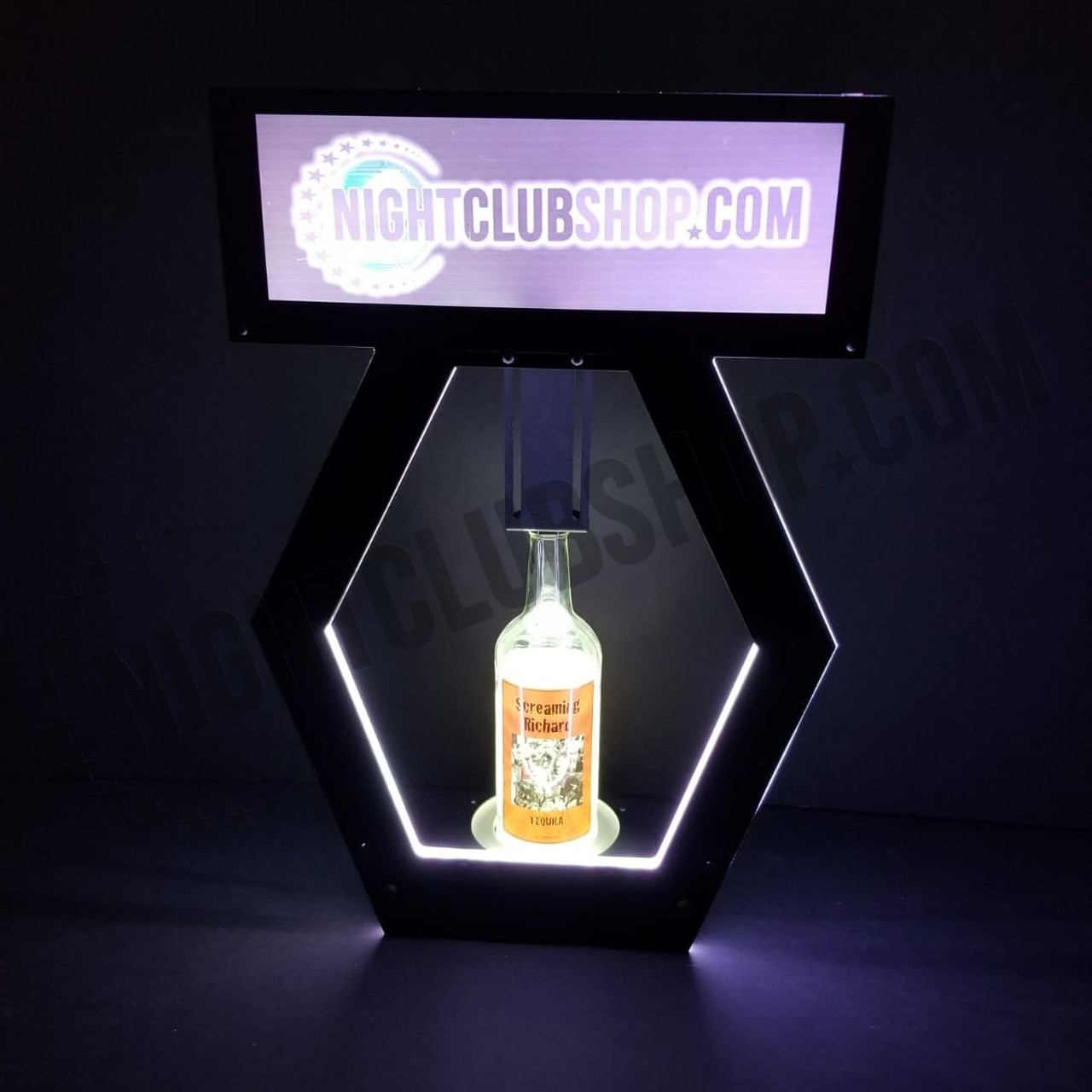 Banner, Top, VIP, NEW, Adjustable, Interchangeable, Print,  LED, Remote, Controlled, RGB, DMXR, Nightclubshop