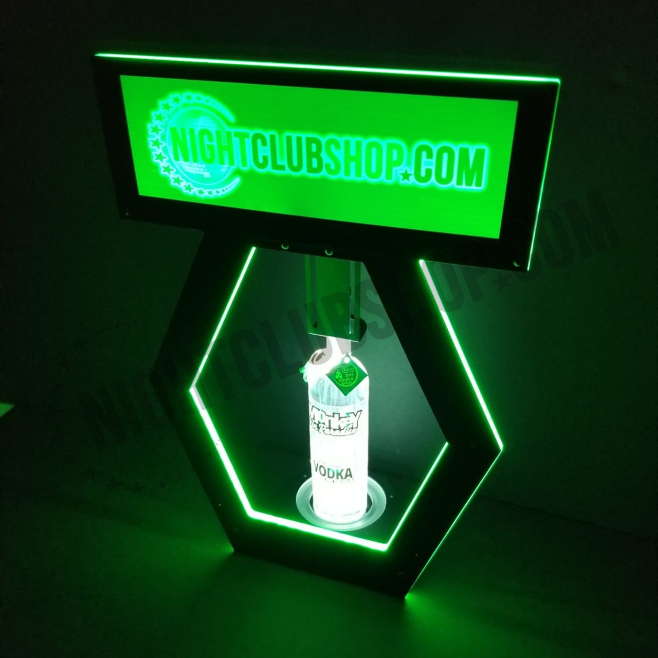 LED, RGB, Remote, Control, DMXR, RF,Glow, Wireless, Nightclubshop, Bottle, Holder, Green