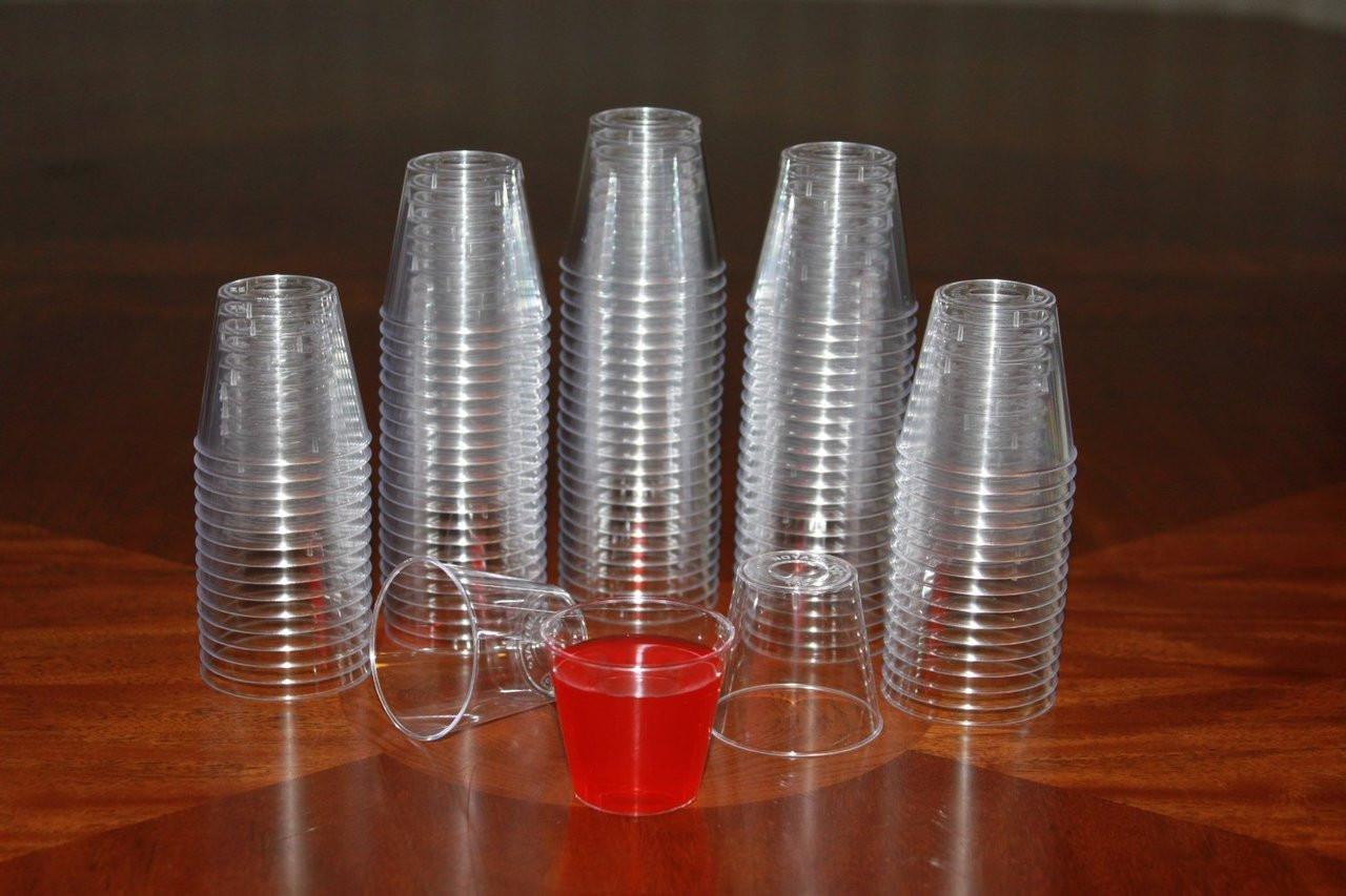 1 OZ. PLASTIC SHOT GLASSES cLEAR