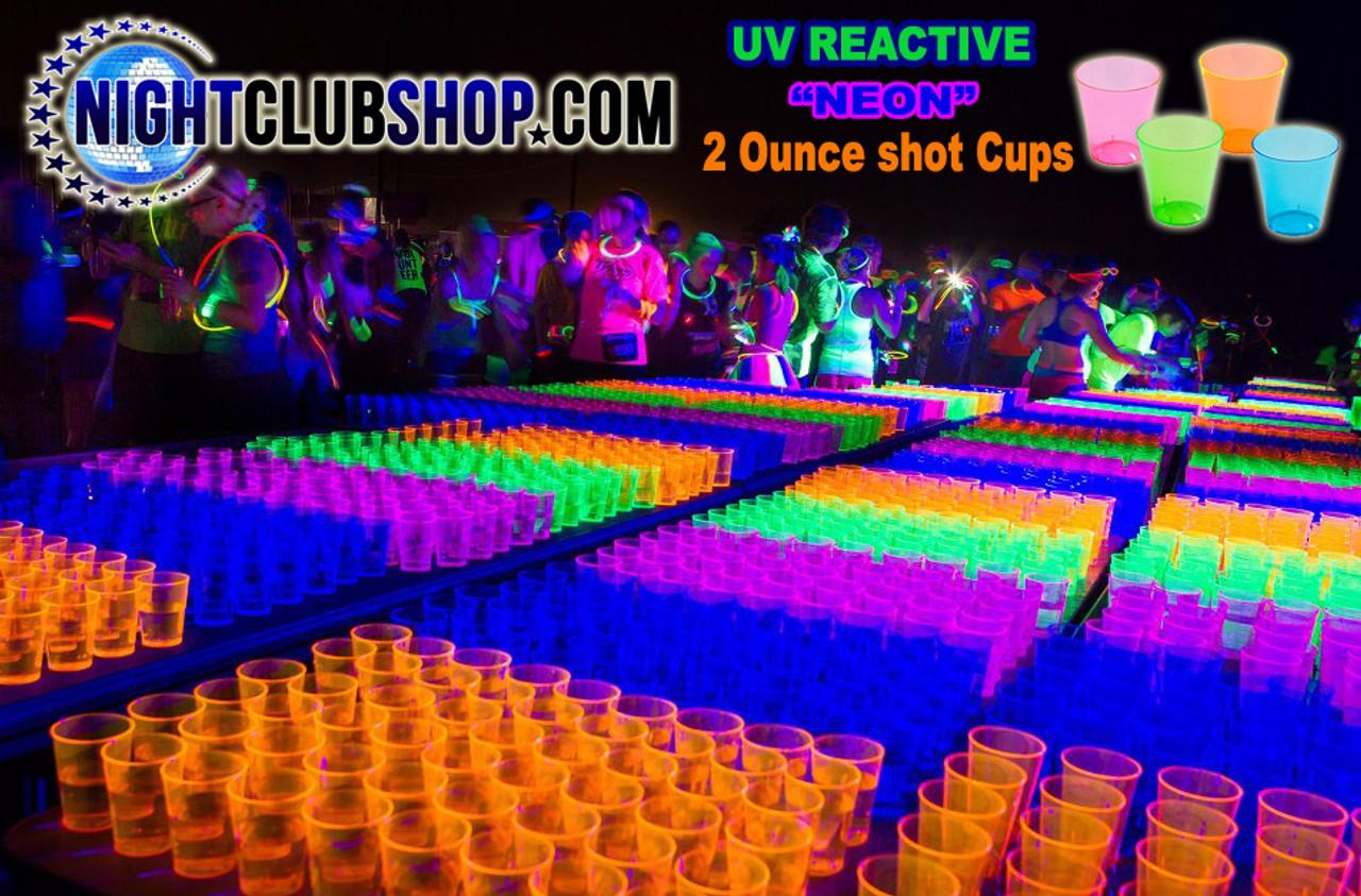 NEON SHOT GLASSES 1 OZ, PARTIES, NEON, GLOW, UV REACTIVE, SHOT GLASS, 2 OZ,plastic, shot, glasses, cups, alcohol, liquor,alcohol,  bar,  club , Cup  glasses,  liquor,  ounce,  party,  shot,  supplies,SUPPLY