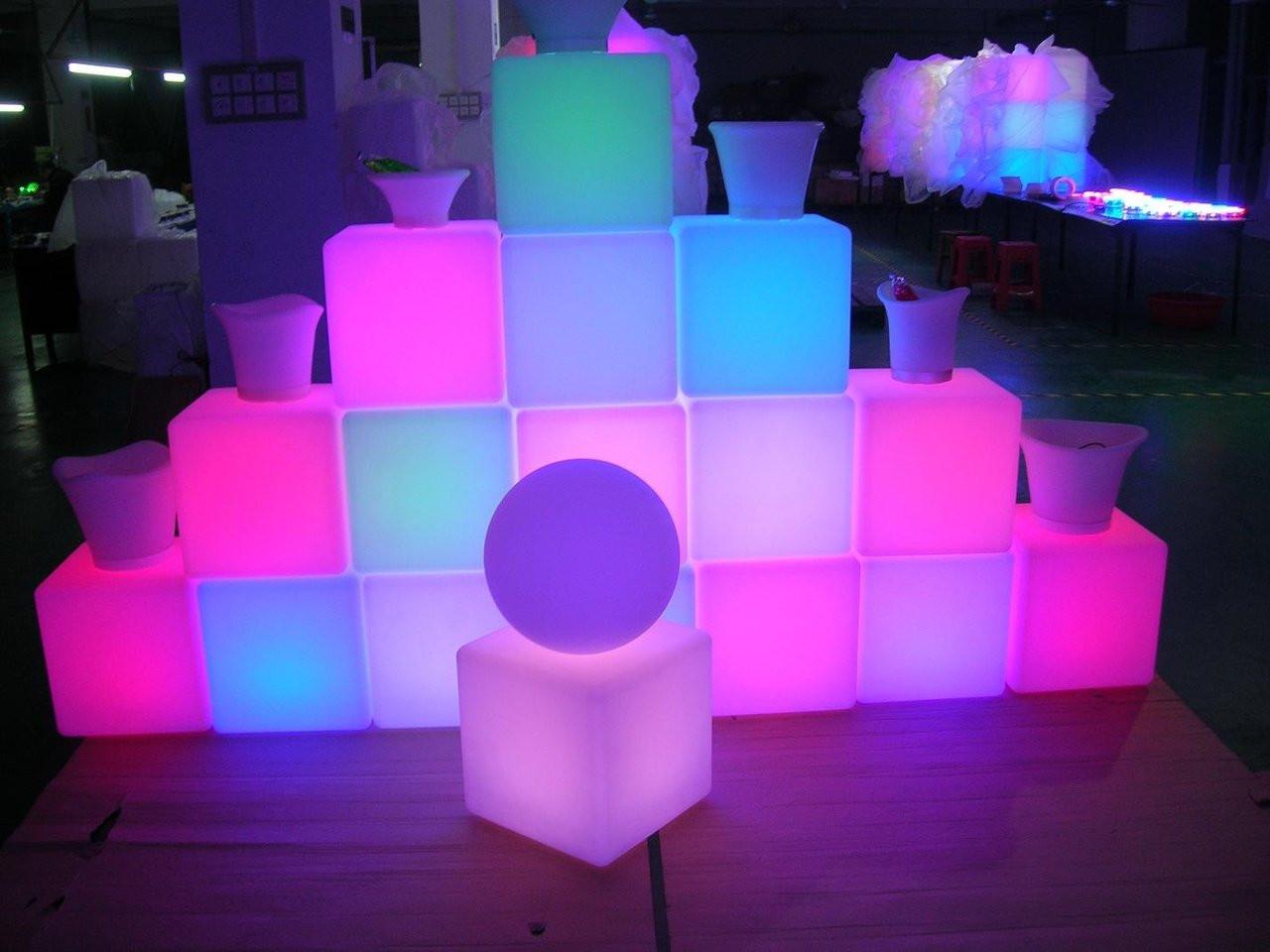 LED, CUBE, FURNITURE, GLOW, Glow Furniture, Nightclub furniture