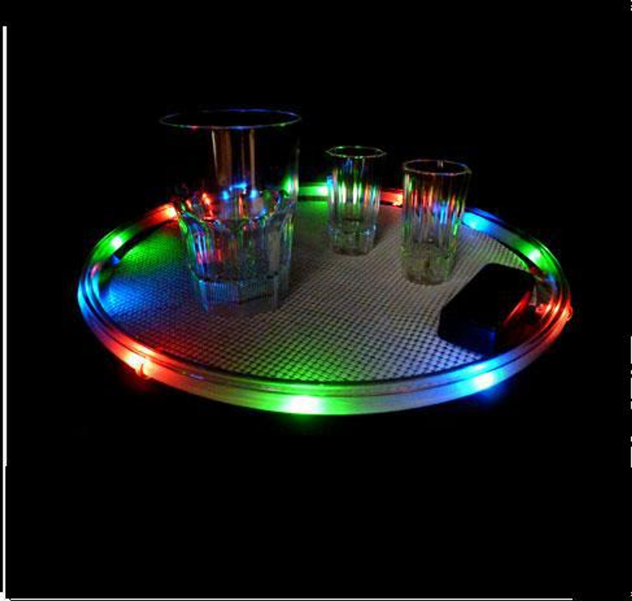 TRAY, serving tray, drink tray, LED, Light up, rgb, multicolor, caddy,