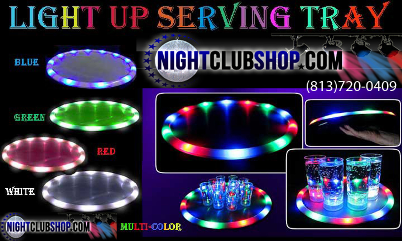 LED, Serving, service , Tray, Bottle service, VIP, waitress, Bandeja, Platter, Wine, carrier