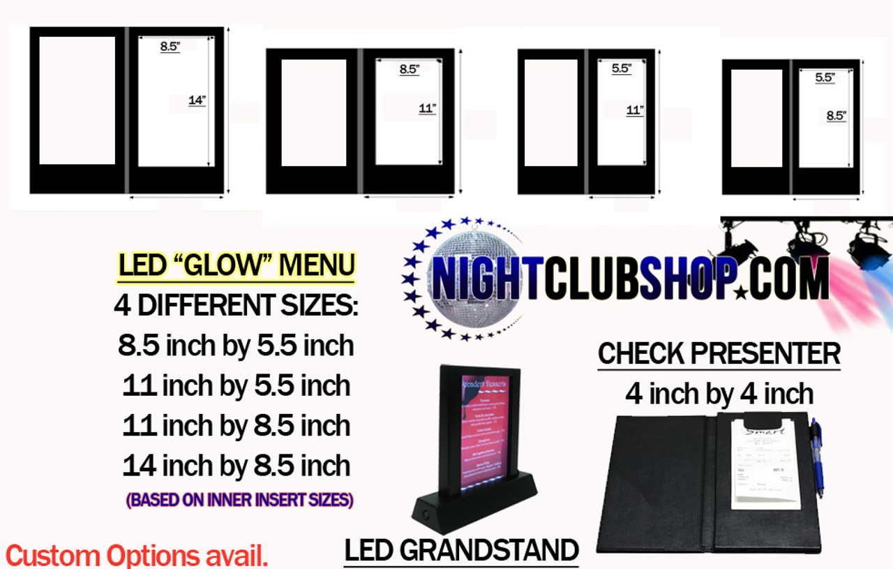 GLOW LED MENU, Glow , LED, Menu