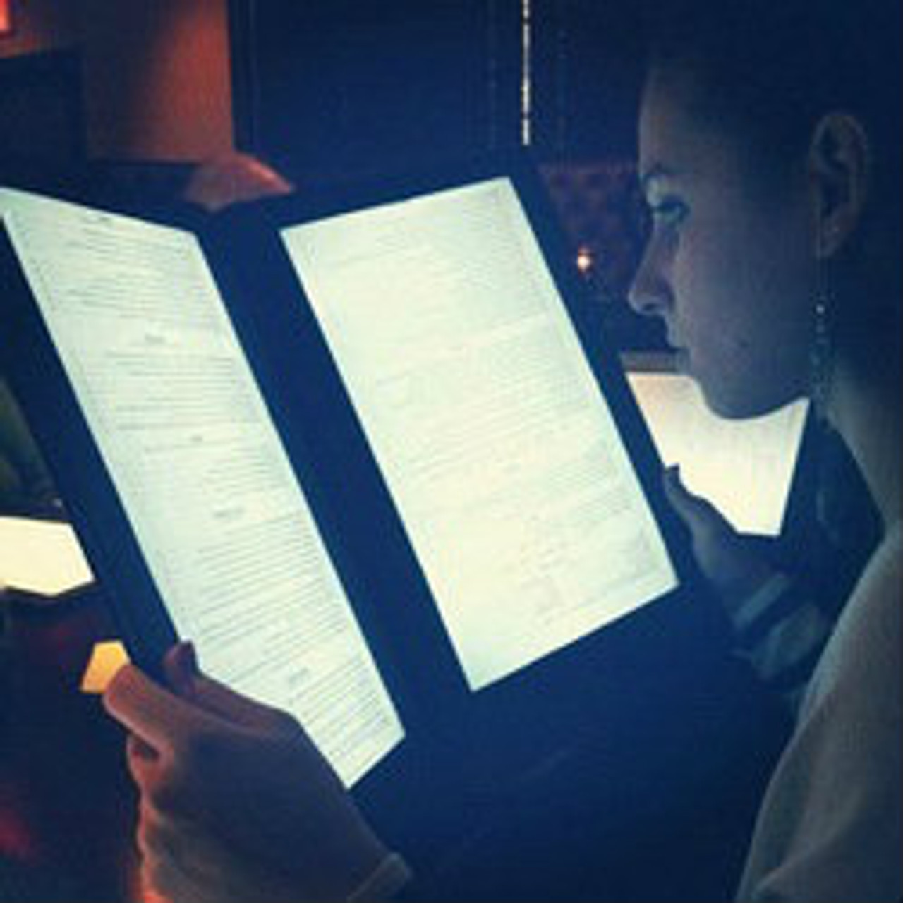 LED BACK LIT MENUS, LED MENUS, GLOW MENU,  back lit menu covers, check presenters, table stands, back lit menus, dine a light, glow in the dark, glowing menus, grandstand, led menus, light up menus, lighted menu, lit check presenters, lit menus, irridescent menu, illuminated menu, illuminati menu, glowing menu, uv menu, led design menu, designer menu, customized restaurant, custom, personalized menu