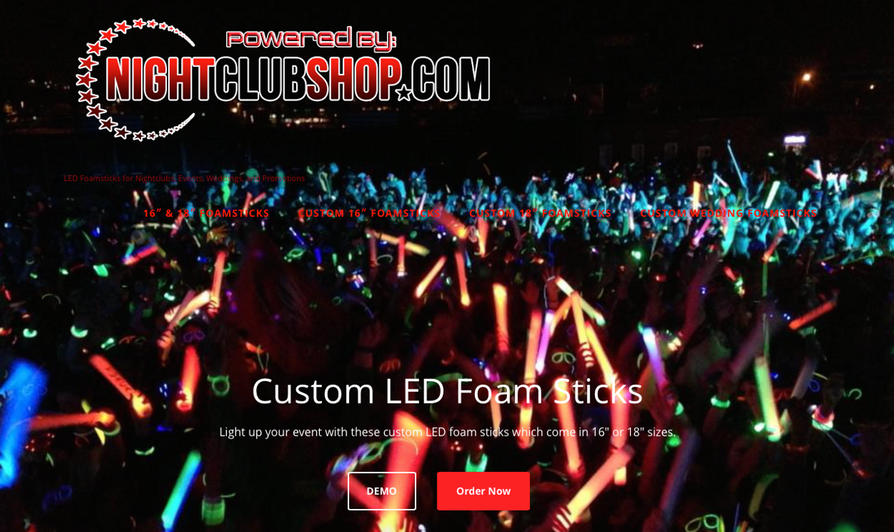 CustomFoamSticks.com, Led Foam stick, wedding, bulk, wholesale, Print,printed,color, Customized,personalized
