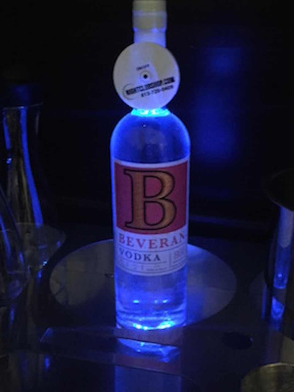 Beveran-Vodka-Light-up-illuminated-illuminator-Coaster-pad-Glorifier-mini-bottle-Glow-LEDGlow-Liquor-light pad-Nightclubshop