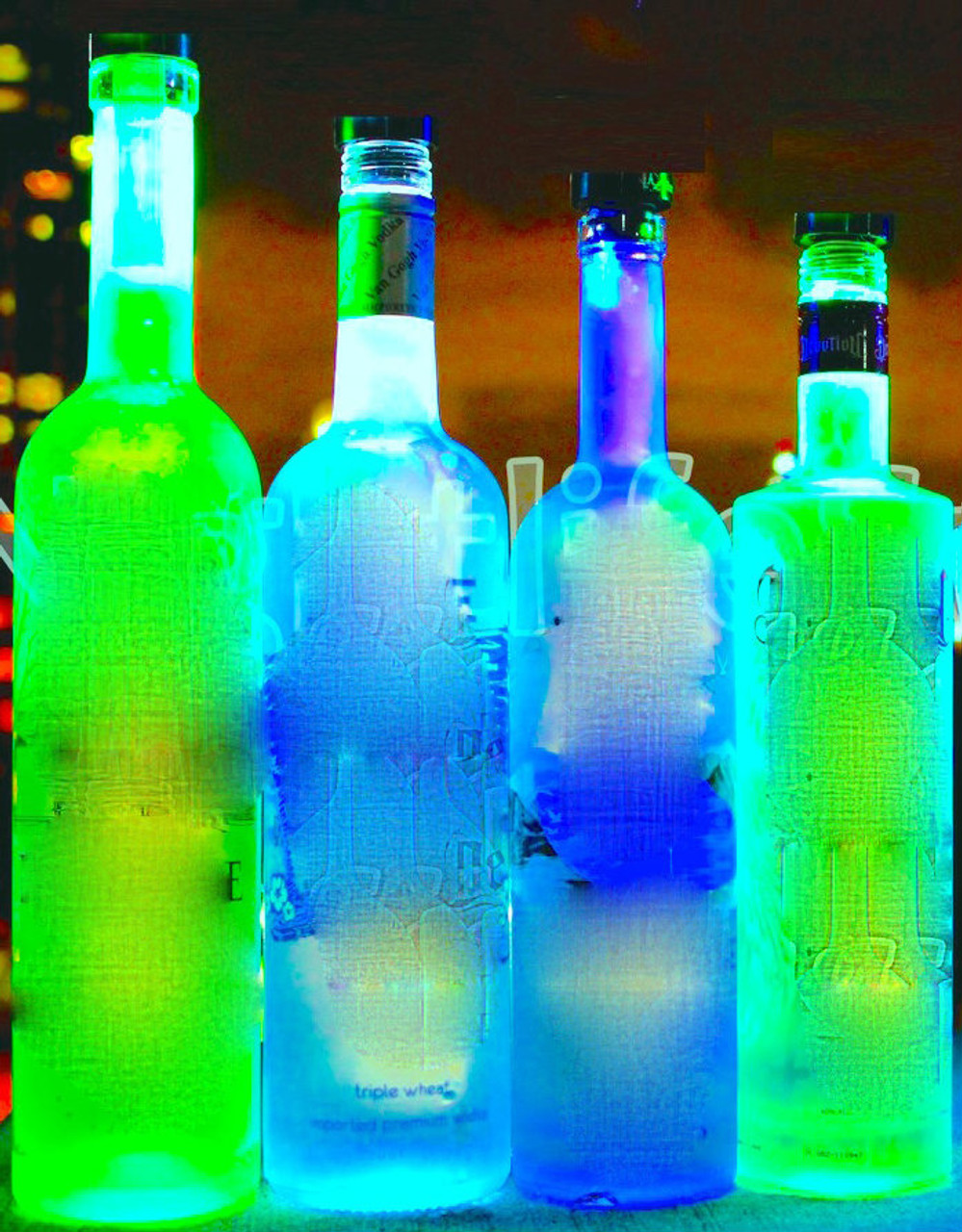 LED Bottle Glow, LED, Bottle, Bright, Light, illuminate, Glorifier, make bottle, light up, glowing, liquor, Belvedere