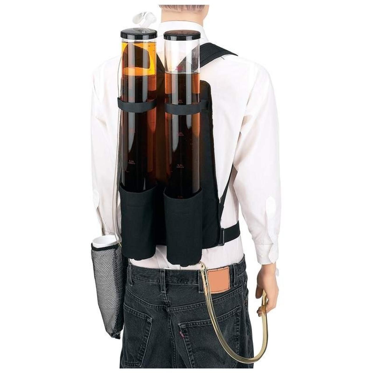 Dual Shot Back Pack Dispenser, Protable, Dual, Keg, Shot, Bar, Nightclub, Waiter, Bartender, Liquor, Pourer, Dispense, Mobil, Movil, double, dual, beer, ideas, summer, pool party, beach, cruise