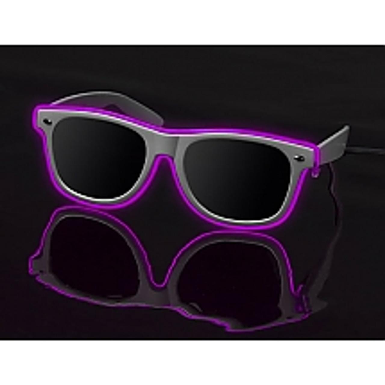 Light up Glasses, LED Glasses, Glow Glasses, Powered Glasses, Electro Glasses, SunGlasses, Sun Glasses, Sun, Glasses, El Wire Glasses, Wayfare lenses, customizable, lenses, Glow Lens, Glow, Lenses, LED, Nightclub, PartyRock, Party, Rock