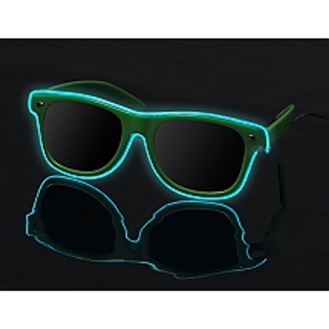 LED LIGHT GLOWING PREMIUM LED SUNGLASSES WHITE