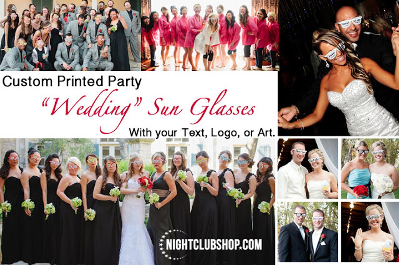 Package, Wedding, Sun, Glasses, Sunglasses, Sun Glasses, Custom, Print, Printed, Custom Printed wedding  Sunglasses, Wedding Party, GLOW Wedding, Wedding Idea, Wedding theme, Wedding Picture Prop, wedding Prop