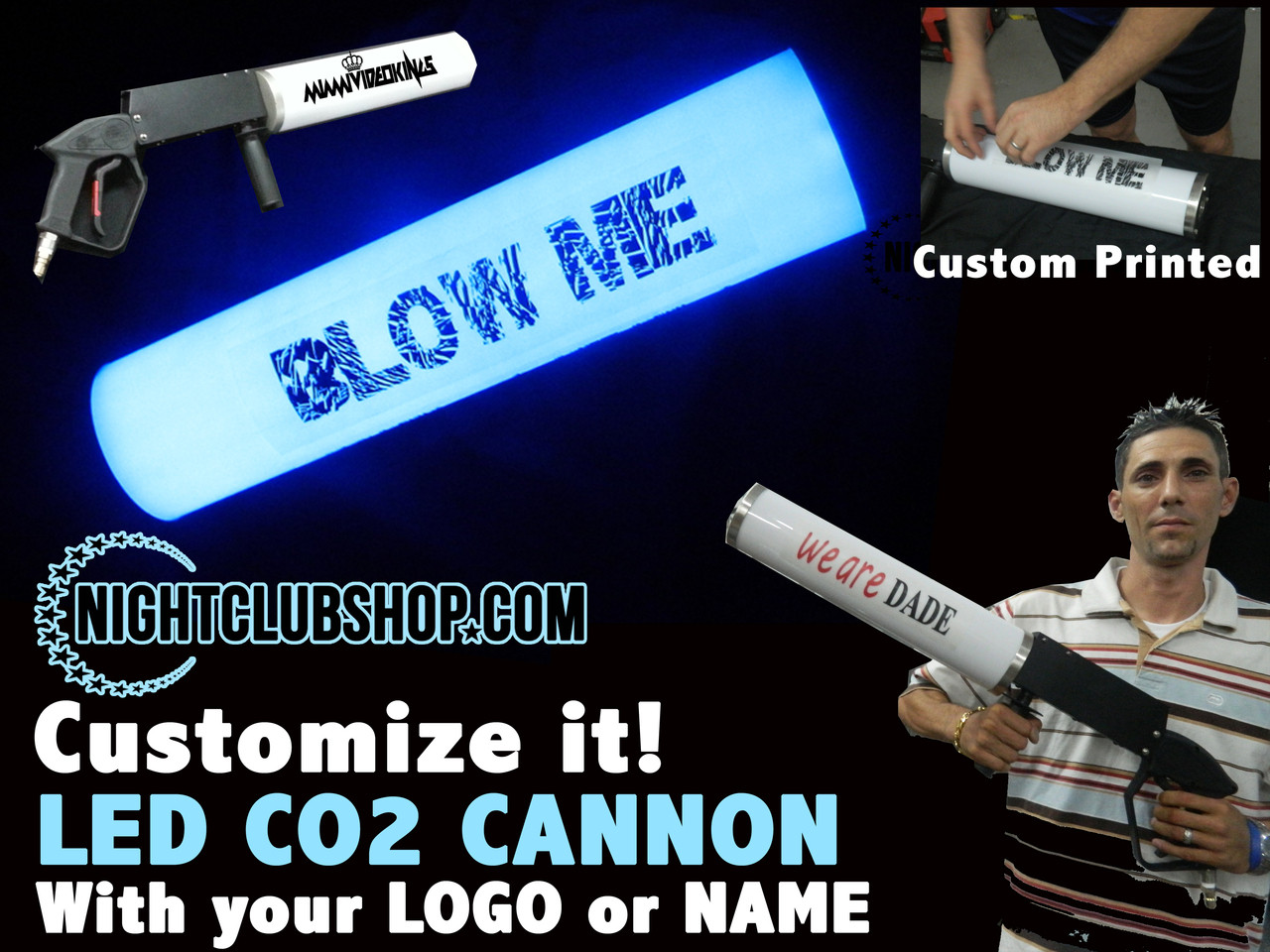 get, comprar, CO2 Gun, CO2 Cannon, CO2 Blast, LED CO2, Party Cannon, Gas Gun, Gas Cannon, CO2 Jet, CO2, Gun, Cannon, Blaster, c02, gas, Special Effect, FX, Nightclub, rave, Electro, Custom, Logo, Personalized, cryo, kryo, kryogenifex
