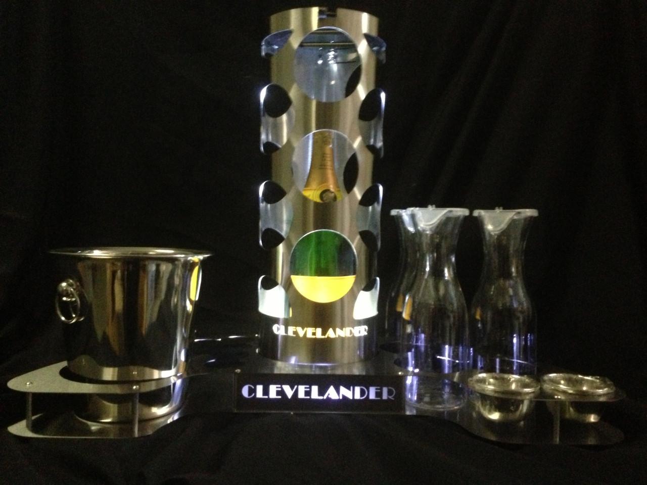 Bottle service tray, VIP Bottle Tray, Bottle, VIP, Tray, LED, Cage, Ice Bucket