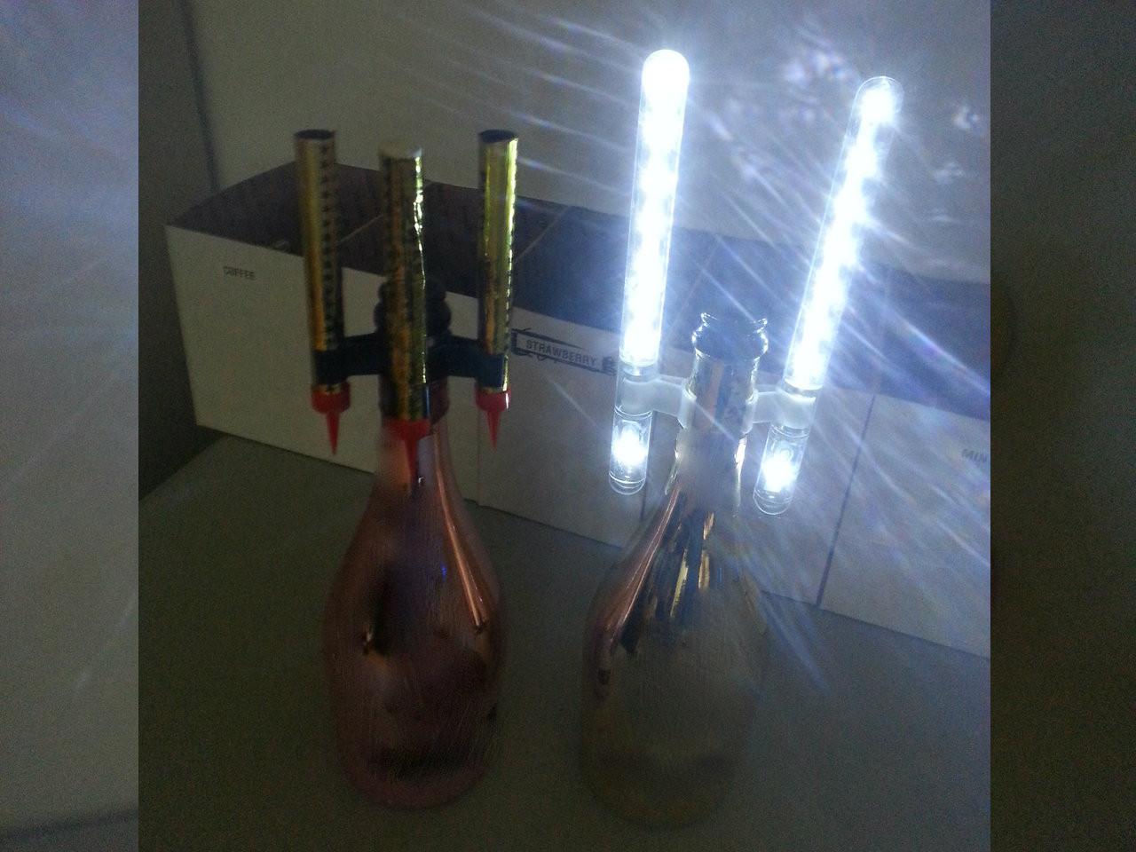 Double Sparklers, Triple, Sparkler, single, sparkler, clip, led NiteSparx Electronic Sparkler clip