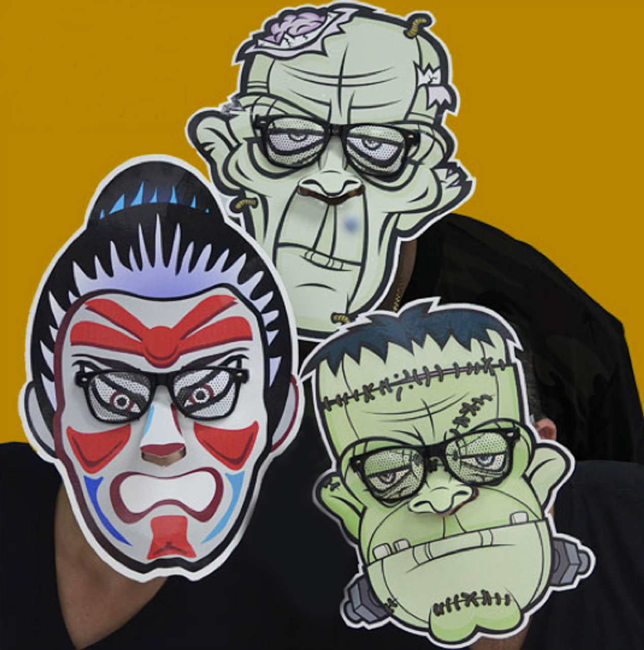 Promo, Masks, faces, cut out, print, fun face,funface