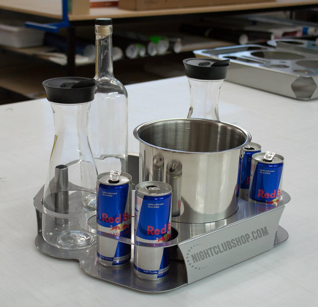 Custom, Bottle, Service, Bottle Tray, Energy Tray, bottle service tray, branded