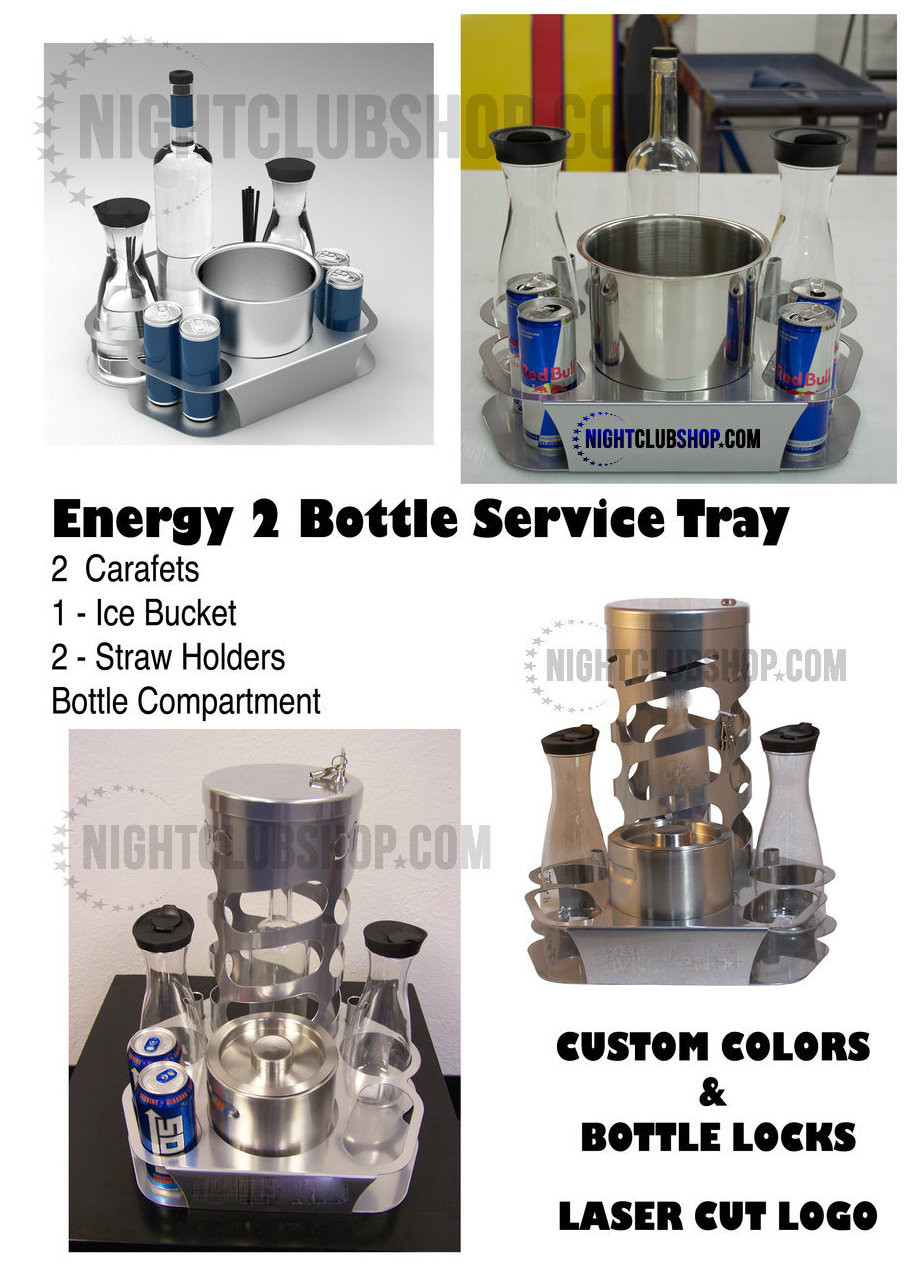 Energy, Drink, Bottle, Chamapgne, Service, tray, Lock, Branded, VIP