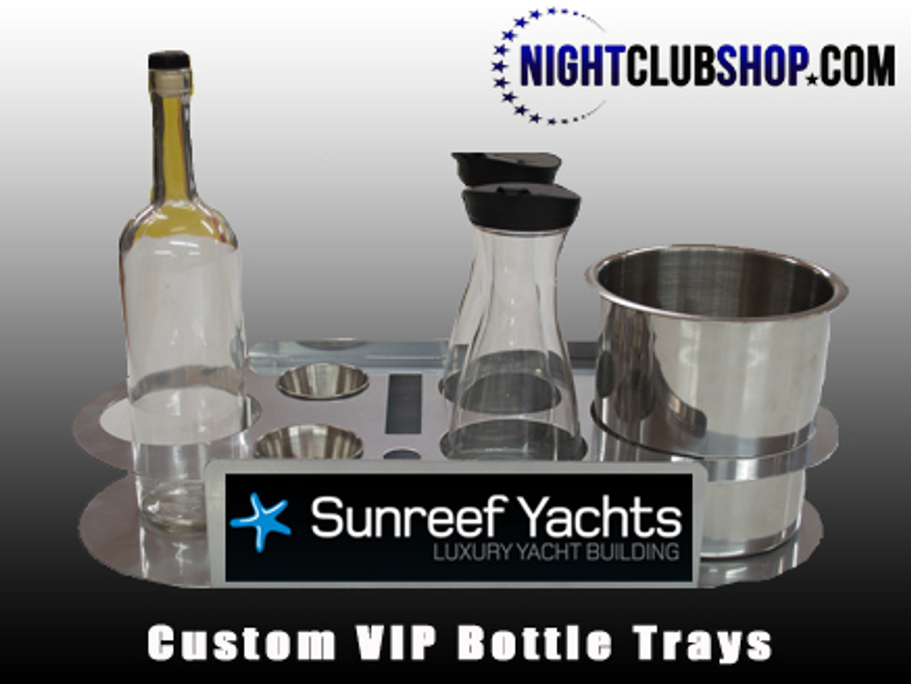 Customized, Logo, Tray, Champagne, Bottle, Service, serving tray