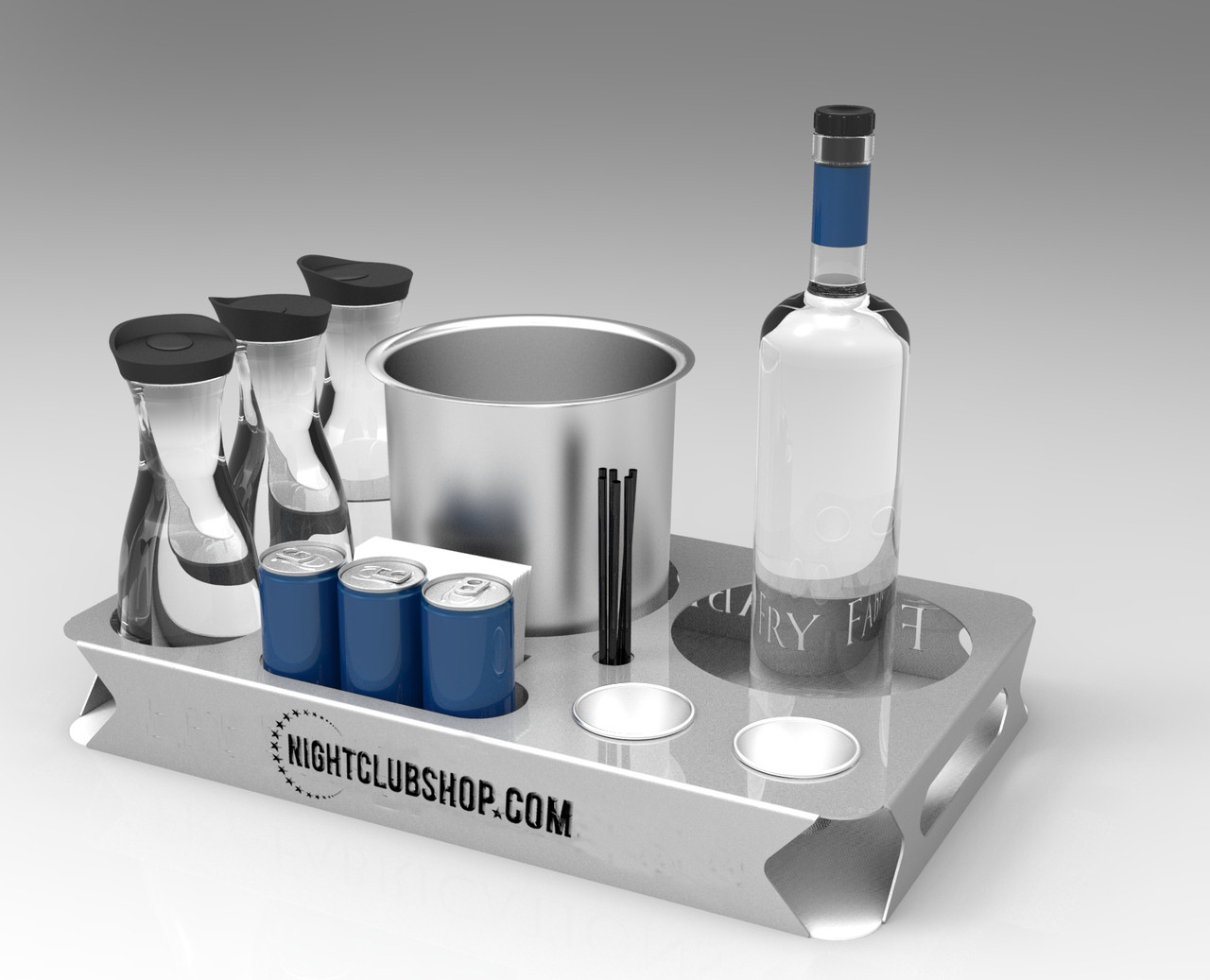 Custom, Champagne, Large, energy, Service, Tray