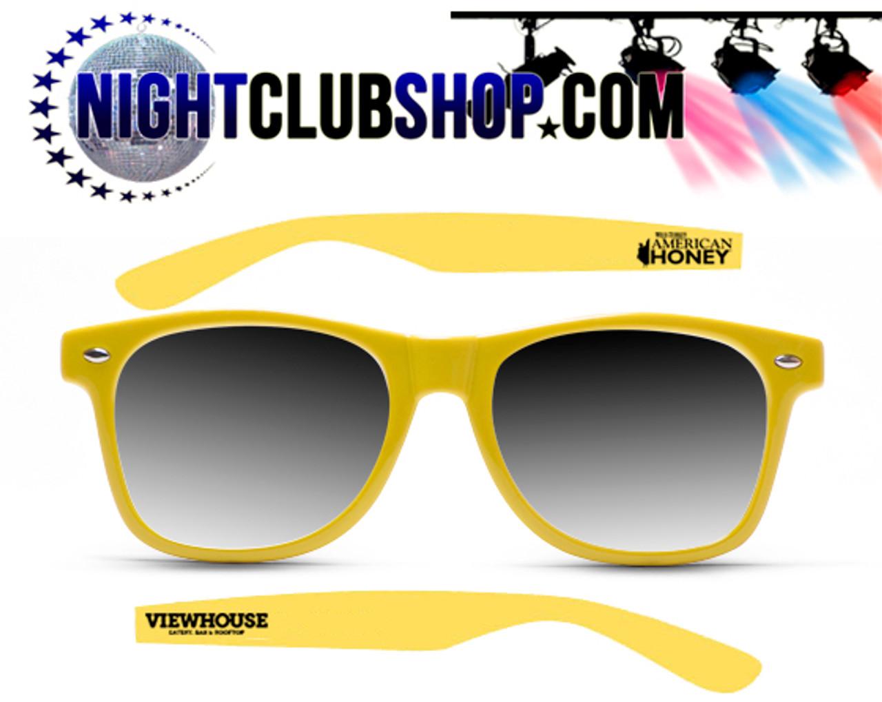 o ooo chupacabsun glasses.Neon, GLOW, Yellow,Custom printed,design, logo, art, bulk, whoesale,