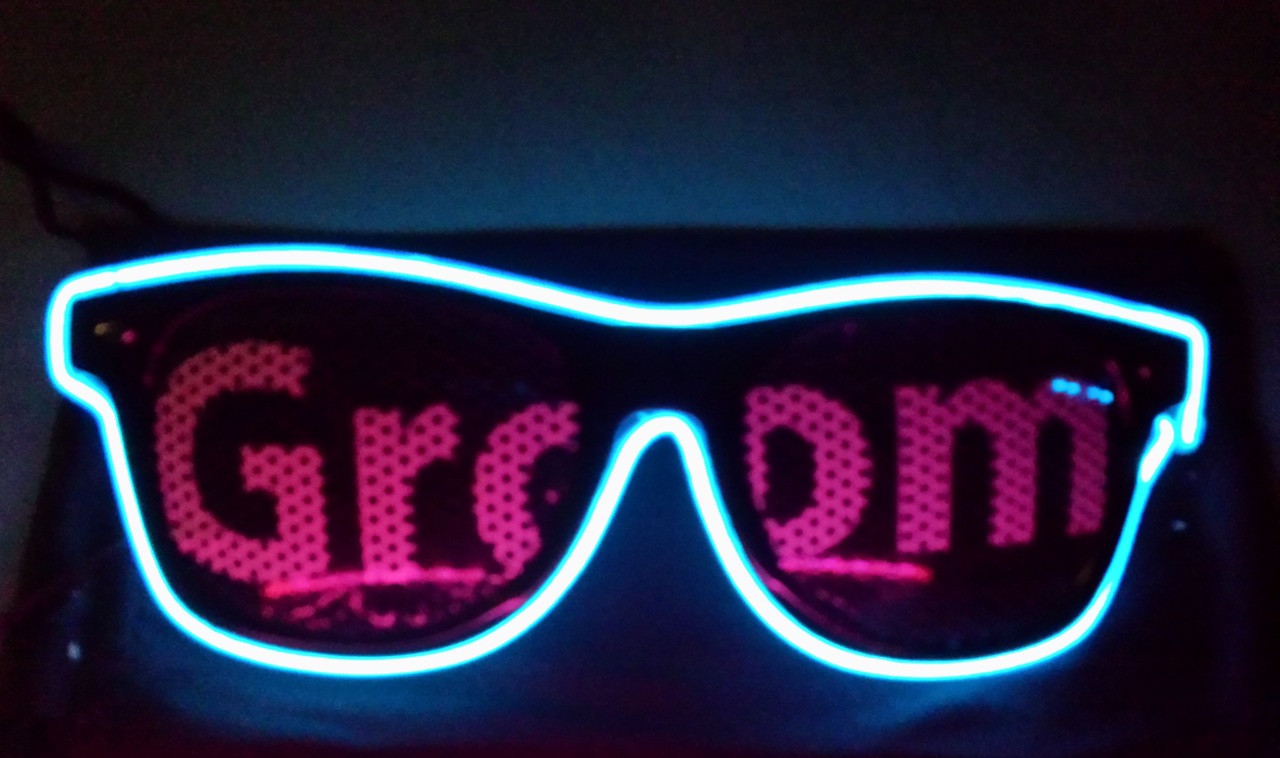 Groom, Wedding, Custom, Ultimate, Glasses, Custom, Light up, LED, GLOW
